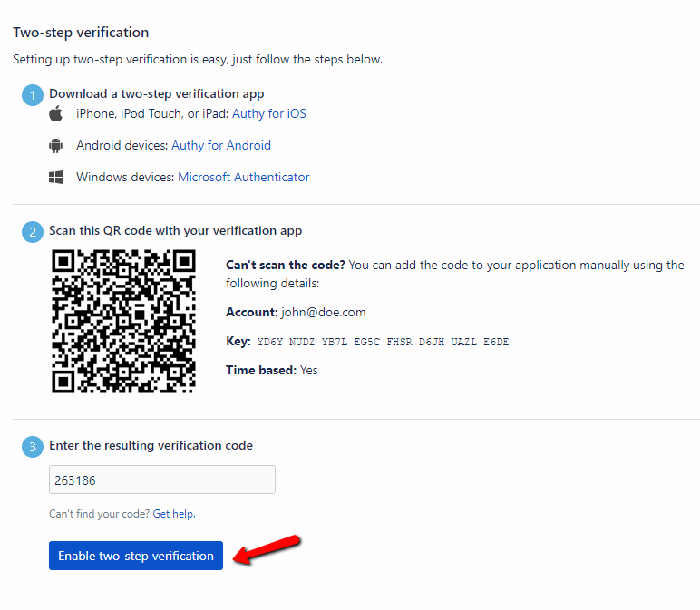 How to set up Bitbucket with TypingDNA Authenticator - TypingDNA
